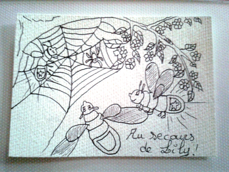 Loula, full of courage, flight to help Lily, trapped in a spider's web!