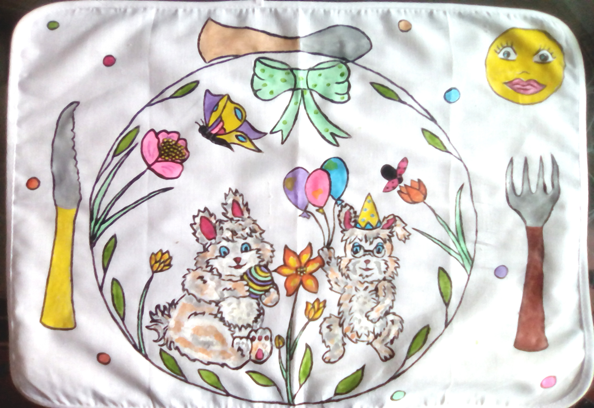 Set de table lapin duo en coton